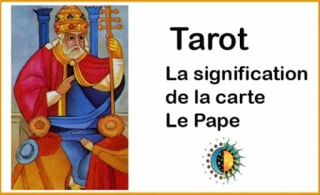 Que signifie la carte de le Pape?