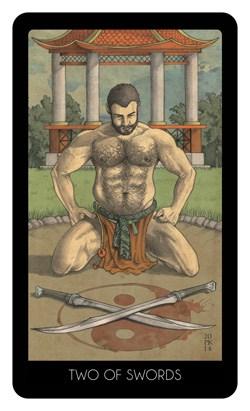 Le 78 tarot carte two of swords