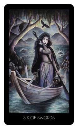 Le 78 tarot carte six of swords