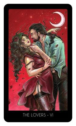 Le 78 tarot carte l'amoureux
