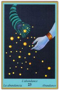 Oracle bleu: la carte l'abondance