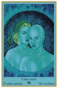 Oracle bleu: la carte L'Âme Soeur