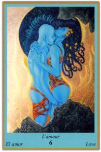 Oracle bleu: la carte L'Amour