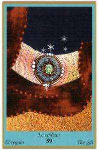 Oracle bleu: la carte Le Cadeau