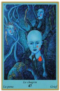 Oracle bleu: la carte Le Chagrin