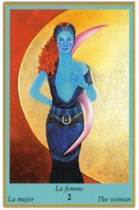 Oracle bleu: la carte la femme