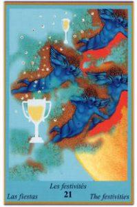 Oracle bleu: la carte Les Festivités