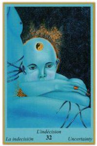 Oracle bleu: la carte L'Indécision