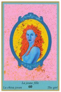 Oracle bleu: la carte La Jeune Fille