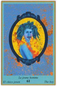 Oracle bleu: la carte Le Jeune Homme