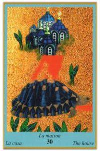 Oracle bleu: la carte La Maison