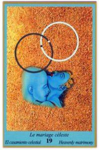 Oracle bleu: la carte Le Mariage céleste