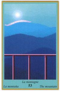 Oracle bleu: la carte La Montagne