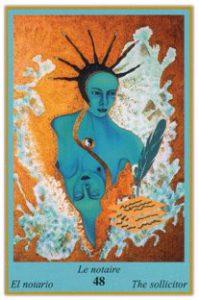 Oracle bleu: la carte Le Notaire