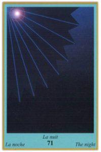 Oracle bleu: la carte La Nuit
