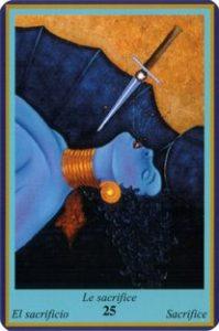 Oracle bleu: la carte Le Sacrifice