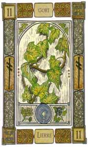 Oracle celte des arbres: la carte le lierre