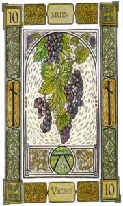 Oracle celte des arbres: la carte la vigne