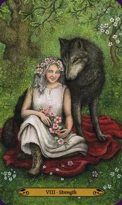 Tarot de la forêt enchantée: carte la force