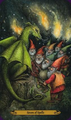 Tarot de la forêt enchantée: carte Seven of spells