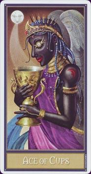 Tarot Deviant Moon : carte Ace of cups