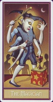 Tarot Deviant Moon : carte le bateleur
