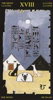 Tarot égyptien la carte de la lune