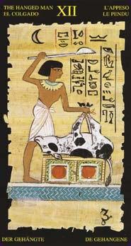 Tarot égyptien la carte le pendu