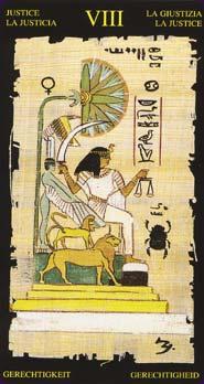 Tarot Égyptien carte la justice
