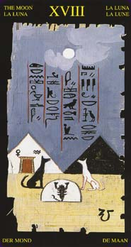 Tarot Égyptien carte la lune