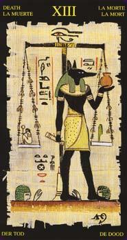 Tarot Égyptien carte la mort