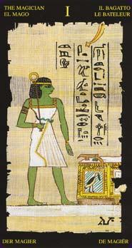 Tarot Égyptien carte le bateleur