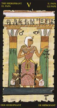 Tarot Égyptien carte le pape
