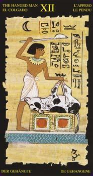 Tarot Égyptien carte le pendu