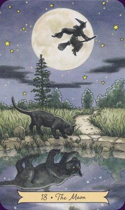 Tarot Histoire de Sorcières carte la Lune