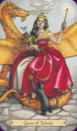Tarot Histoire de Sorcières carte queen of wands