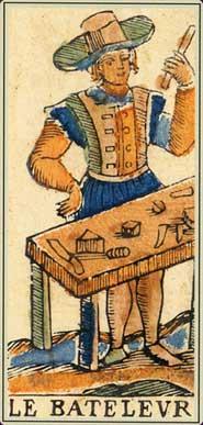 Anciens tarots Bolognais: la carte le Bateleur
