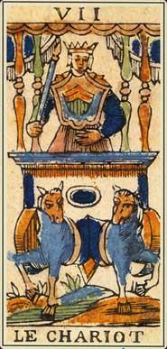 Anciens tarots Bolognais carte le Chariot