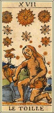 Anciens tarots Bolognais carte l'étoile