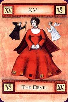Art of Tarot carte le diable