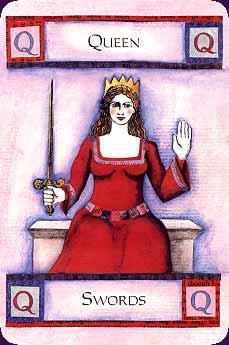 Art of Tarot carte reine-epee
