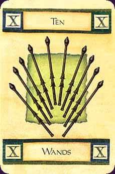 Art of Tarot carte 10 bâtons