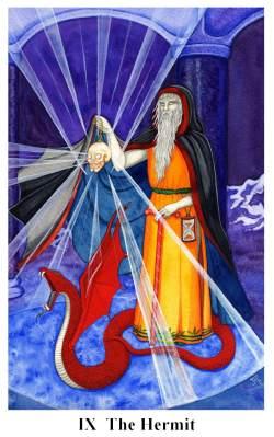 Arto tarot carte: l'ermite