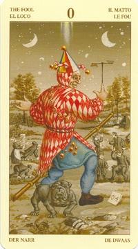 Bruegel Tarot: carte le fou