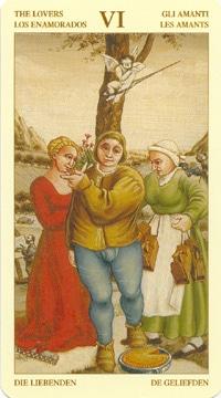 Bruegel Tarot: carte l'amoureux
