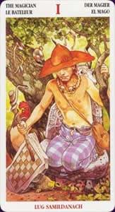 Celtic tarot carte : le bateleur