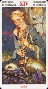 Celtic tarot carte : la tempérance