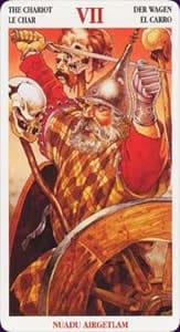 Celtic tarot carte : le chariot