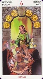 Celtic tarot carte : le 6 de deniers