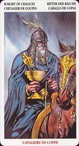 Celtic tarot carte : le chevalier de coupes